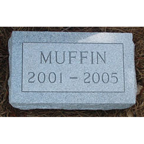 "Custom-order Real Granite Monument: $170 (14"" L x 8.5"" W x 4"" H) Heavy, high-quality monument (not like pet store imitations)"