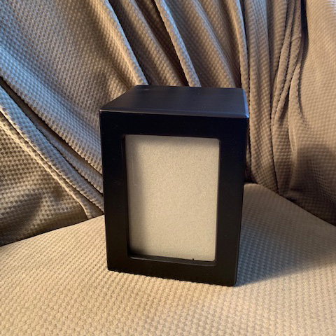 MDF Black Photo Urn: $85 (all sizes)