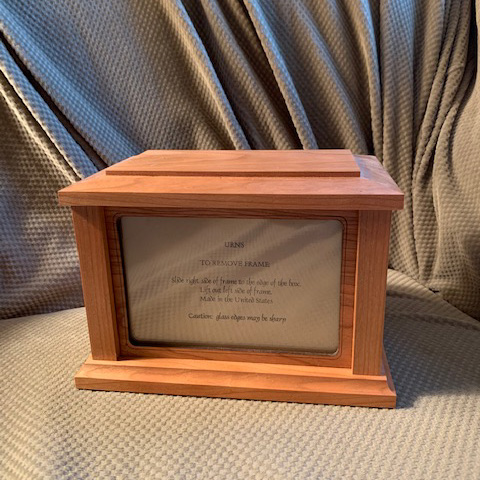 Natural Cherry Wood (unstained) Photo Urn