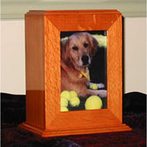 Oak Tower Pet Urn: $175
