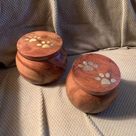 Rosewood PawPot Urn: $59 Small / $69 Medium