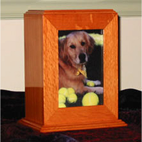 Oak Tower Pet Urn: $175
