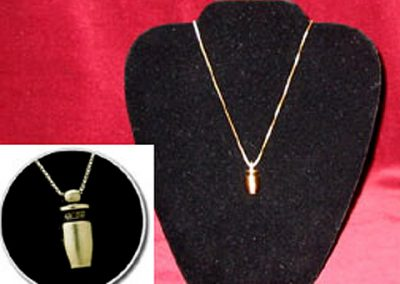 Brass Urn Keepsake Pendant: $100