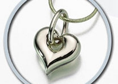 Sterling Silver Puff Heart Keepsake Pendant: $200