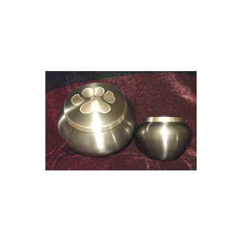 Slate-colored Brass Urn - Single Paw: $139 Large / $97 Medium-Small